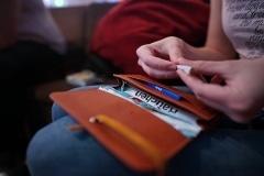 Tabaketui und Drehertasche aus Leder